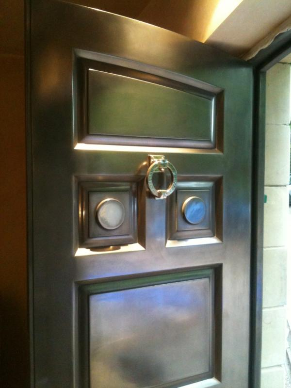Spray on Metals Metal door